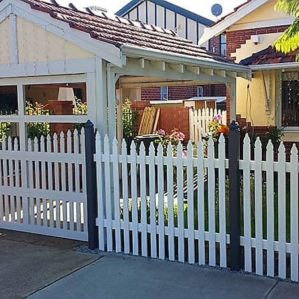 Clients Custom Design Picket Fence